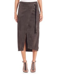Brunello Cucinelli Suede Midi Pencil Skirt