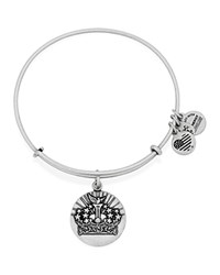 Alex And Ani Queen's Crown Ii Expandable Wire Bangle Rafaelian Silver