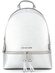 Michael Michael Kors Metallic Backpack Grey