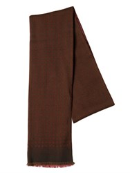 Boglioli Dot Printed Wool And Silk Twill Scarf