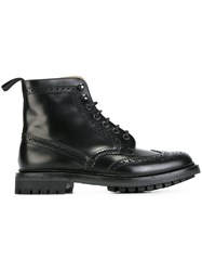 Church's Perforated Detailing Boots Black