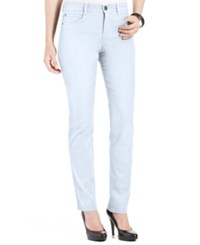 Styleandco. Style And Co. Petite Slim Leg Tummy Control Jeans Bright White