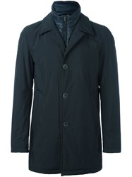Herno Buttoned Coat Blue