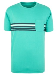 Racing Green Russell Stripe T Shirt Green