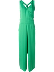 P.A.R.O.S.H. Bow Back Jumpsuit Green