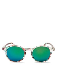 See Concept Mirrored Letmesee Collection D Sunglasses 40Mm Green Tortoise Green Mirror