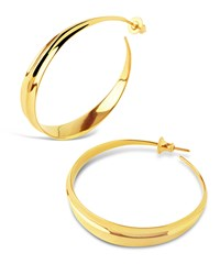 Dinny Hall Large Gold Plated Lotus Hoops
