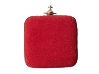 Vivienne Westwood Angel Glitter Square Clutch Red Clutch Handbags