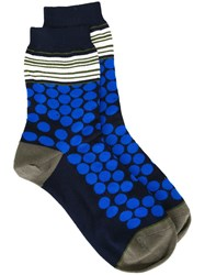 Paul Smith Dots And Stripes Socks Blue
