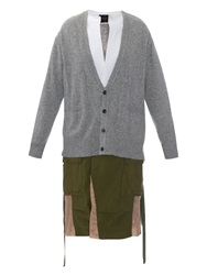 Undercover Contrast Panelled Cardigan