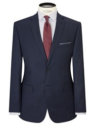 Daniel Hechter Birdseye Tailored Suit Jacket Airforce