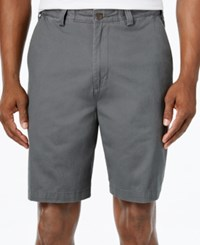Geoffrey Beene Big And Tall Extender Waist Flat Front Shorts Graphite