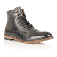 Frank Wright Formby Lace Up Boots Black