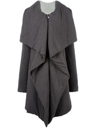 Rick Owens Lilies Waterfall Jacket Grey