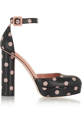 Red Valentino Polka Dot Leather Pumps
