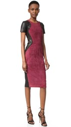 Prabal Gurung Combo Sheath Dress Fuchsia