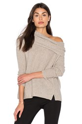 White Warren Three Way Funnel Neck Sweater Tan