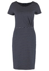 Tom Tailor Jersey Dress Real Navy Blue Dark Blue