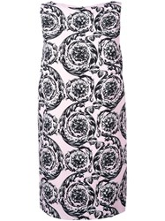 Versace Baroque Print Shift Dress Pink And Purple
