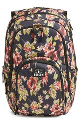 Volcom 'Top Notch' Floral Print Backpack Black