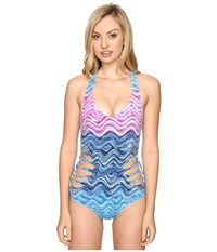 Becca Cosmic One Piece Water Women's Swimsuits One Piece Blue