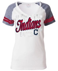 5Th And Ocean Women's Cleveland Indians White Hot T Shirt