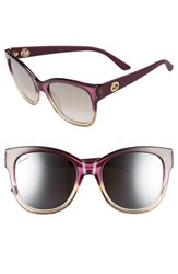 Women's Gucci 54Mm Sunglasses Shaded Fuchsia