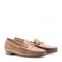 Gucci Moccasin 1953 Studded Leather Loafers Brown