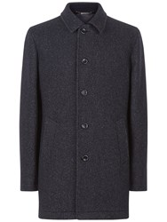 Jaeger Double Faced Car Coat Navy