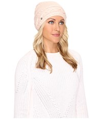 Ugg Cable Oversized Beanie Freshwater Pearl Multi Cold Weather Hats White