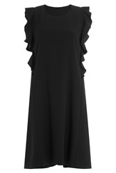 Carven Dress With Ruffles Black