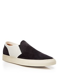 Buttero Suede Two Tone Slip On Sneakers Black White