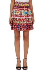 Dolce And Gabbana Women's Cotton A Line Skirt Red