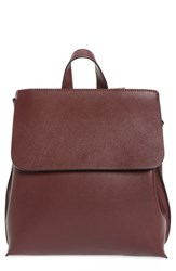 Sole Society Selena Faux Leather Backpack Red