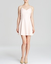 Aqua Dress Faux Leather Spaghetti Strap Pale Pink