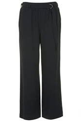 Wide Leg Trousers By Selected Femme Navy Blue