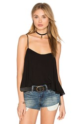 Indah Simple Crossback Cami Black
