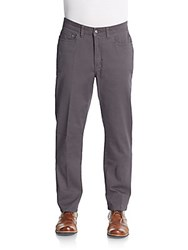 Saks Fifth Avenue Five Pocket Stretch Cotton Pants Iron