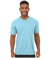 Ecoths Mckinney V Neck Tee Glacier Blue Men's T Shirt