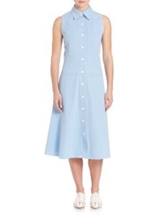 Derek Lam Sleeveless Button Down Dress Oxford