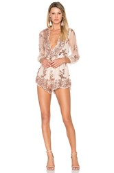Reverse Glow Up Romper Metallic Copper