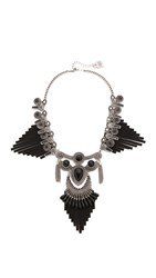 Adia Kibur Brittany Statement Necklace Black