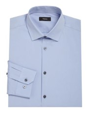 Theory Dover Regular Fit Solid Dress Shirt Wave