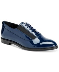 Calvin Klein Women's Della Lace Up Oxford Flats Women's Shoes Deep Navy
