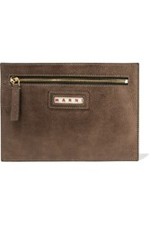 Marni Leather Pouch Brown