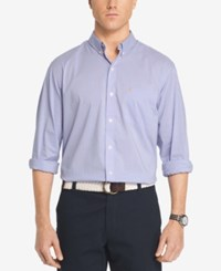 Izod Men's Advantage Non Iron Gingham Shirt Della Robia Blue