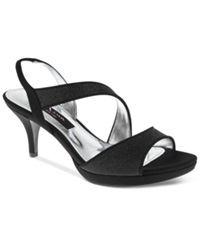 Nina Newark Evening Sandals Women's Shoes Black