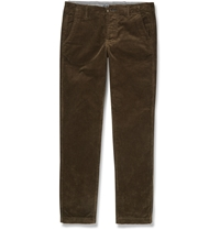 Nn.07 Simon Tapered Corduroy Trousers Brown