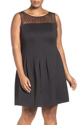 Ellen Tracy Plus Size Women's Beaded Fit And Flare Dress
