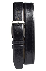 Mezlan 'Perseo' Leather Belt Black